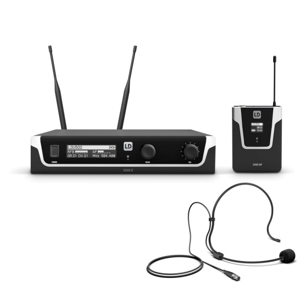 LD Systems U505 BPH Funkmikrofon System mit Bodypack und Headset