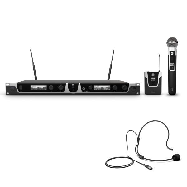 LD Systems U505 HBH 2 Funkmikrofon System mit Bodypack, Headset und Handmikrofon dynamisch
